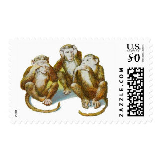 Monkeys See No Evil Hear No Evil Speak No Evil Postage