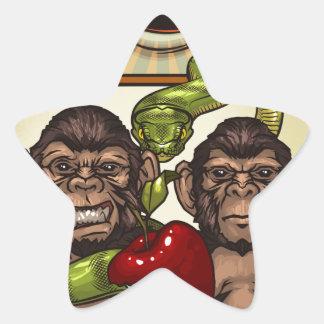 Monkeys Star Sticker