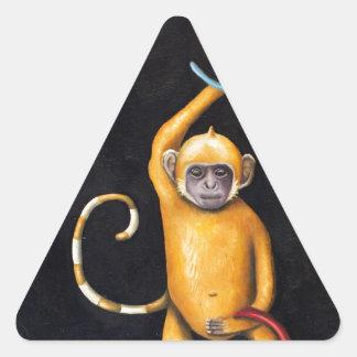 Monkeys Triangle Sticker