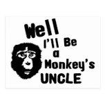 Monkeys Uncle Postcard