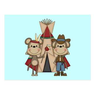 Monkeys Wild West Tshirts and Gifts Postcard