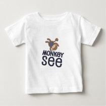 MonkeySeeShirt Baby T-Shirt
