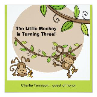 MonkeyZoo Animals Birthday Invitations