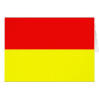 Monki, bandera de Polonia Tarjeta De Felicitación
