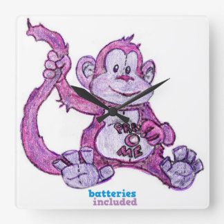 Monkie Time! YES Square Wall Clock