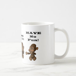 monkies classic white coffee mug