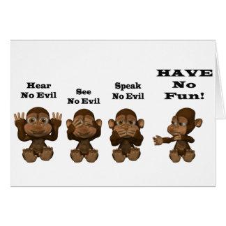 monkies tarjeta de felicitación