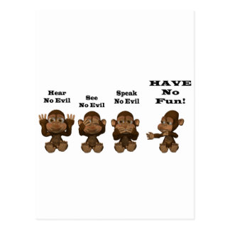 monkies tarjetas postales