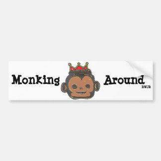 Monking Around Bumper Sticker