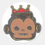 Monking Classic Round Sticker