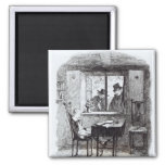 Monks and the Jew Discover Oliver 2 Inch Square Magnet
