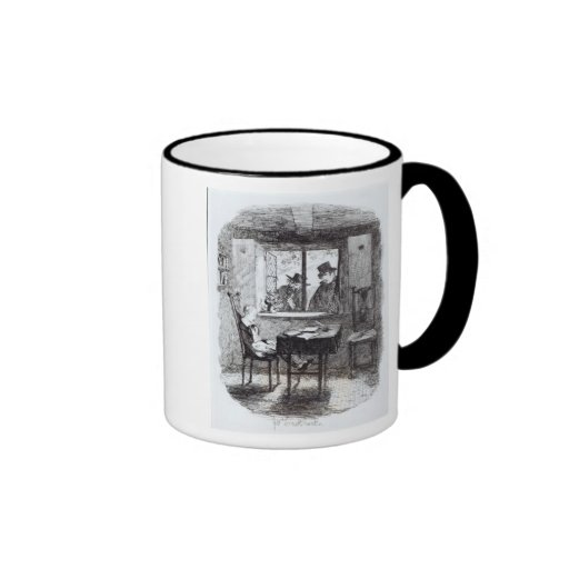 Monks and the Jew Discover Oliver Ringer Mug