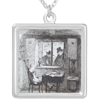 Monks and the Jew Discover Oliver Square Pendant Necklace