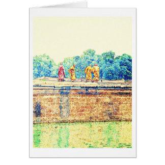Monks @ Angkor Wat Card