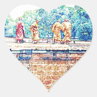 Monks @ Angkor Wat Heart Sticker