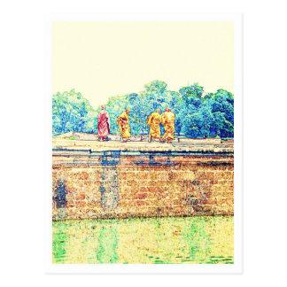 Monks @ Angkor Wat Postcard