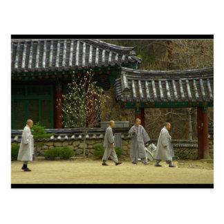 Monks at palgong mountain, South Korea Post Cards