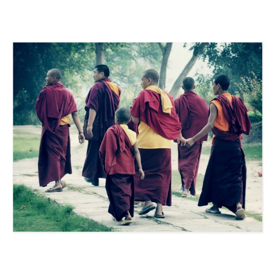 Monks in Sarnath Postcard