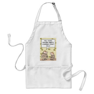 monks pretty humble think adult apron