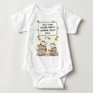 monks pretty humble think baby bodysuit