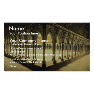 Monks' promenade, Mont St. Michel, France vintage Double-Sided Standard Business Cards (Pack Of 100)