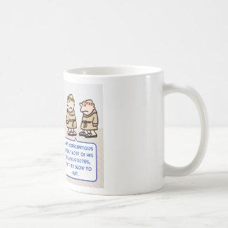 monks slow to fast classic white coffee mug