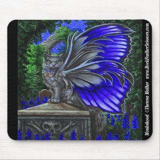 Monkshood Grey Fairy Cat Mousepad
