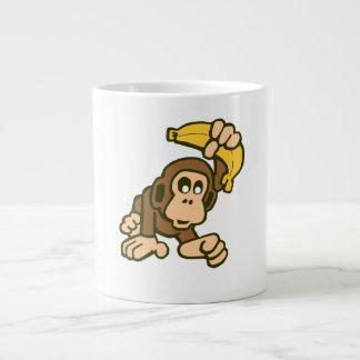monky 20 oz large ceramic coffee mug