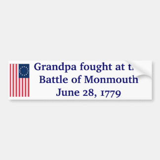 Monmouth - 1779 bumper stickers