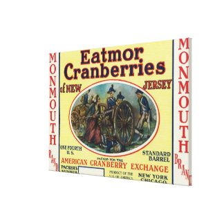 Monmouth Eatmor Cranberries Brand Label Stretched Canvas Print