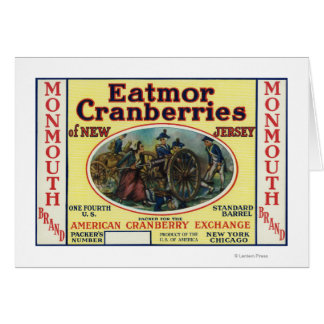 Monmouth Eatmor Cranberries Brand Label Greeting Card