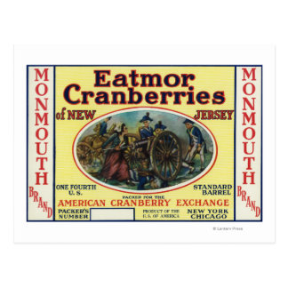 Monmouth Eatmor Cranberries Brand Label Post Cards
