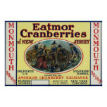 Monmouth Eatmor Cranberries Brand Label Posters