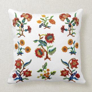 Monmouth Jacobean Faux Embroidery Pillow