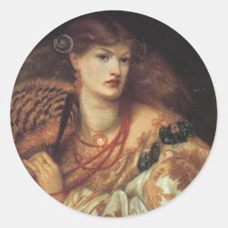 Monna Vanetta by Rossetti Classic Round Sticker