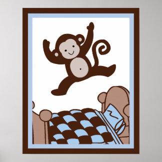 Mono 3 Jumpin en el poster/la impresión del arte d