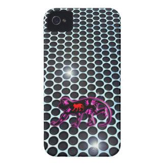 mono 3D púrpura del cromo del metal del caso del i Case-Mate iPhone 4 Fundas
