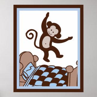 Mono 4 Jumpin en el poster/la impresión del arte d