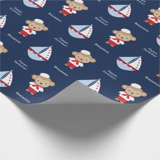 Mono adorable del marinero papel de regalo