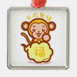 Mono afortunado adorno