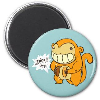 Mono afortunado de Gonden Imán Redondo 5 Cm