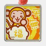 Mono afortunado ornato
