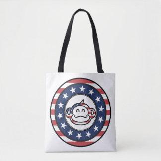 Mono América del bigote Bolsa De Tela