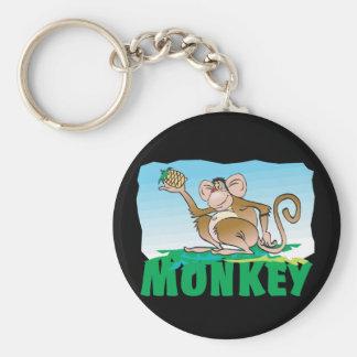 Mono amistoso del niño llavero redondo tipo pin