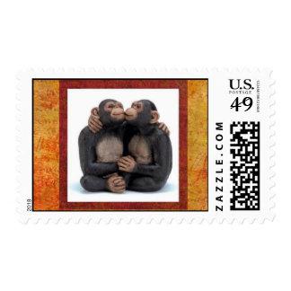 mono-amor estampillas