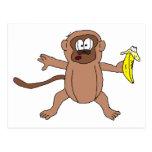 Mono (animales y amigos) postal