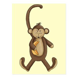 Mono atado largo tarjeta postal