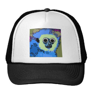 Mono azul con los ojos Googly Gorro