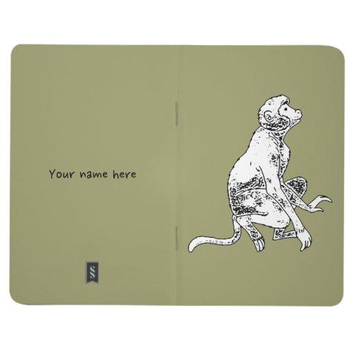 mono blanco y negro cuadernos