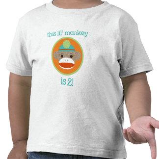 Mono brillante del calcetín: Segunda camiseta del